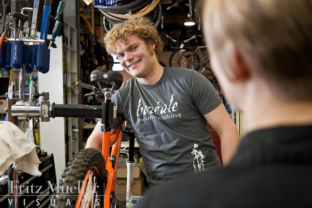 Rory at Boreale Mountain Biking offers mountain bike service tips