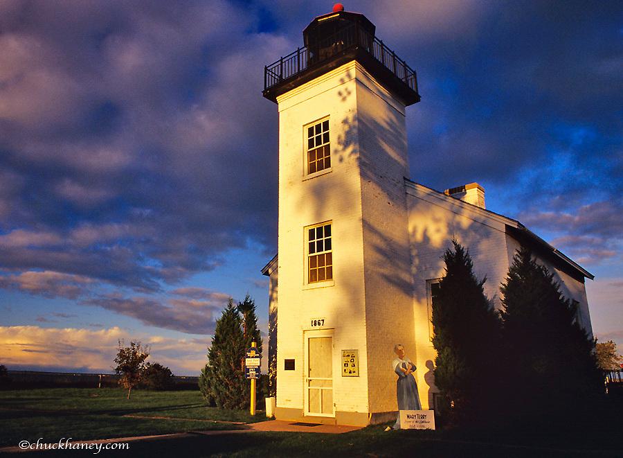 Historic lighthouse at Escanaba UP Michigan