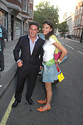 Luca del Bono and Francesca Busnelli. 'Stellawood' exhibition of work by Stella Vine, Hamiltons. Carlos Place. London. 22 June 2005. ONE TIME USE ONLY - DO NOT ARCHIVE  © Copyright Photograph by Dafydd Jones 66 Stockwell Park Rd. London SW9 0DA Tel 020 7733 0108 www.dafjones.com