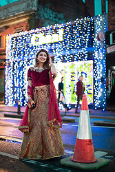 © Licensed to London News Pictures. 04/06/2019. Manchester, UK. IFRAH FARASAT (18 from Hazel Grove). People celebrate Eid-ul-Fitr , the end of a month of fasting during Ramadan , in Rusholme in Manchester . Photo credit: Joel Goodman/LNP