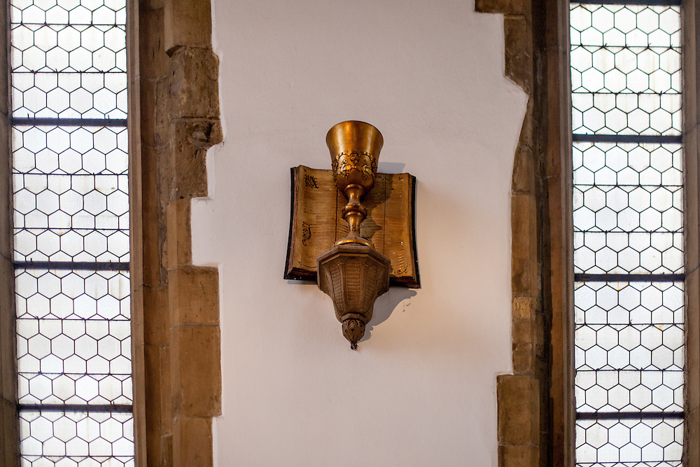 In 1414 Jacob of Mies first served the holy communion under both kinds to laymen (which was forbidden by the Fourth Council of the Lateran in 1215) by the approval of Jan Hus who already dwelt in Constance. Communion under both kinds represented by chalice became the main symbol of the Bohemian Reformation. Up to the present time the chalice is a symbol of non-Catholic Christians in the Czech Republic. St. Martin in the Wall (Czech: Kostel sv. Martina ve zdi) is a church in Prague. Used to mark the boundary between the Old Town and the New Town, its name dates from the time when the church was a part of the town wall during the fortification of the Old Town. Originally a Romanesque building it was renovated in Gothic style twice.