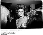 Sophia Loren during Swifty Lazar's last Oscar Night  Party. Spago's. Los Angeles. March 1993. Film. 93242/15<br /><br />© Copyright Photograph by Dafydd Jones<br />66 Stockwell Park Rd. London SW9 0DA<br />Tel 0171 733 0108