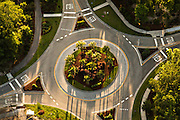 Aerial view of a traffic circle Mount Pleasant, SC.