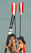 Milan. ITALY 2003 Oar Handles. Grips. Blades, Equipment. World Rowing Championships. Idro Scala Rowing Course. [Mandatory Credit: Peter Spurrier: Intersport Images.]