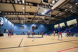 Bristol Flyers players warming up - Photo mandatory by-line: Arron Gent/JMP - 28/04/2019 - BASKETBALL - Surrey Sports Park - Guildford, England - Surrey Scorchers v Bristol Flyers - British Basketball League Championship