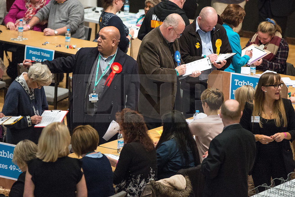 © Licensed to London News Pictures . 03/12/2015 . Oldham , UK . The count at the Oldham West and Royton by-election , at the Queen Elizabeth Hall in Oldham . The by-election was called following the death of MP Michael Meacher . Photo credit: Joel Goodman/LNP