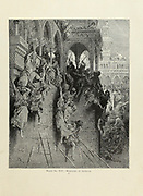 The Massacre at Antioch Plate XXI from the book Story of the crusades. with a magnificent gallery of one hundred full-page engravings by the world-renowned artist, Gustave Doré [Gustave Dore] by Boyd, James P. (James Penny), 1836-1910. Published in Philadelphia 1892