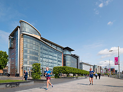 View of new office buildings at IFSD Broomielaw new business and financial district in Glasgow United Kingdom