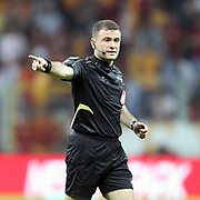 Referee's ilker Meral during their Turkish Super League soccer match Galatasaray between Eskisehirspor at the TT Arena at Seyrantepe in Istanbul Turkey on Saturday, 06 October 2012. Photo by TURKPIX
