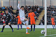 Nabil Touaizi Zoubdi of Spain (10) goes close during the UEFA European Under 17 Championship 2018 match between Netherlands and Spain at the Pirelli Stadium, Burton upon Trent, England on 8 May 2018. Picture by Mick Haynes.