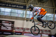#243 (KIMMANN Justin) NED during practice at the 2019 UCI BMX Supercross World Cup in Manchester, Great Britain