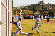 Acalanes High player drops a foul ball during the 2011 NCS Championship game. San Marin High School and Acalanes High School were named Co-Champions of the North Coast Section Division 3 Section when their June 6, 2011 championship game was suspended after ten innings with the score tied 4-4.