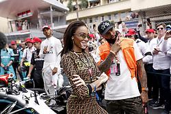 May 26, 2019 - Monte Carlo, Monaco - Motorsports: FIA Formula One World Championship 2019, Grand Prix of Monaco, ..Winnie Harlow, Odell Beckham jr  (Credit Image: © Hoch Zwei via ZUMA Wire)