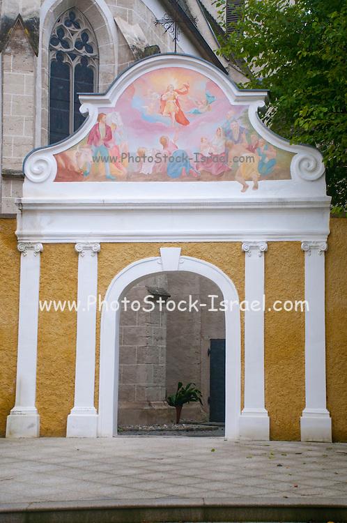 The parish church in Onterloben, Durnstein, Wachau Valley, Austria