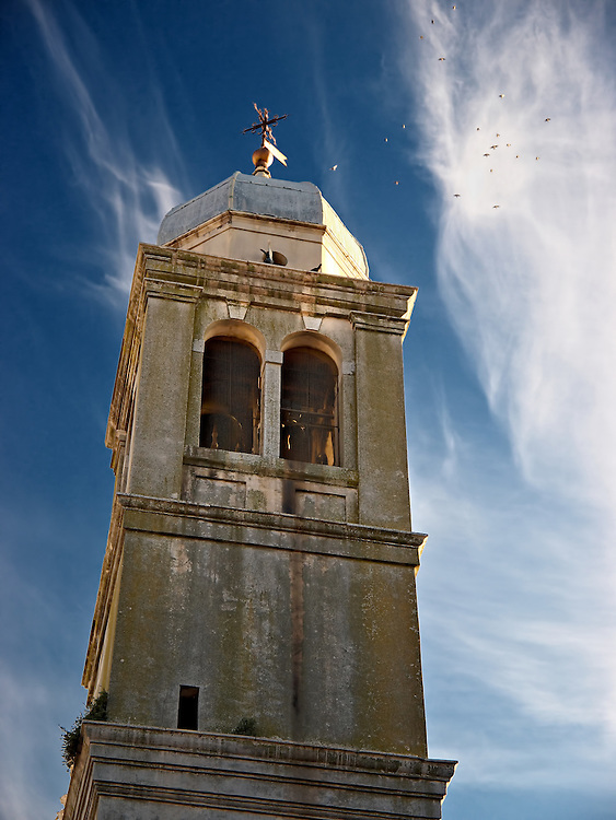 Italy - Chioggia - Church tower at sunset