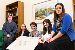 Apprentices from across the UK , left to right, XXXXXX meet Apprenticeships minister Rt. Hon. Anne Milton MP at the House of commons as Royal Mail launches a postmark to commemorate Apprenticeships Week. House of Commons, London, March 07 2018.