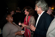 PAULINE MALEFANE; SIGRID RAUSING; ERIC ABRAHAM, , The opening night of The Mysteries Ð Yiimimangaliso at the Garrick Theatre. Aftershow party in The Crypt, St Martin-in-the-Fields, Trafalgar Square, London. 15 September 2009.<br /> PAULINE MALEFANE; SIGRID RAUSING; ERIC ABRAHAM, , The opening night of The Mysteries ? Yiimimangaliso at the Garrick Theatre. Aftershow party in The Crypt, St Martin-in-the-Fields, Trafalgar Square, London. 15 September 2009.
