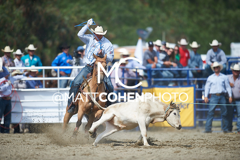 Team roper Cory Petska of Marana, AZ competes at the Rancho Mission Viejo Rodeo in San Juan Capistrano, CA.  <br /> <br /> <br /> UNEDITED LOW-RES PREVIEW<br /> <br /> <br /> File shown may be an unedited low resolution version used as a proof only. All prints are 100% guaranteed for quality. Sizes 8x10+ come with a version for personal social media. I am currently not selling downloads for commercial/brand use.