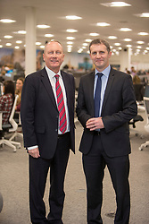 UK Managing Director, Chris Mottershead and Michael Matheson MSP for Falkirk, at the official opening of the Thomas Cook holiday contact centre at Central Park, Larbert.