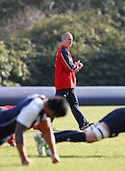 Picture by Andrew Tobin/Focus Images Ltd +44 7710 761829.08/02/2013.Stuart Lancaster, Head Coach of England looks on during Training at Pennyhill Park, Bagshot.