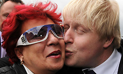 File photo dated 11/04/08 of Boris Johnson heeding a request for a kiss from a supporter on the campaign trail to become the Mayor of London. Mr Johnson has been elected by Conservative party members as the new party leader, and will become the next Prime Minister of the United Kingdom.