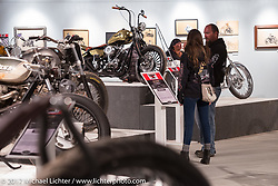 Old Iron - Young Blood exhibition in the Motorcycles as Art gallery at the Buffalo Chip during the annual Sturgis Black Hills Motorcycle Rally. Sturgis, SD, USA. Wednesday August 9, 2017. Photography ©2017 Michael Lichter.