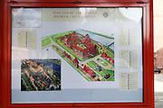 Malbork (Marienburg) Castle Poland Tourist information sign