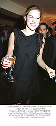 Party girl MISS ALEXANDRA AITKEN, at a reception in London on 24th May 2001.OOR 112