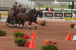 Gert Schrijvers, (BEL), El Fiero, Giganta A, Onyx, Replay, Victor K - Driving Cones - Alltech FEI World Equestrian Games™ 2014 - Normandy, France.<br /> © Hippo Foto Team - Dirk Caremans<br /> 07/09/14