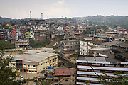 Overhead view of Madikeri city. Coorg or Kadagu is the largest coffee growing region of India, in the state of Karnataka, the inhabitants - the Kodavas have been cultivating crops such as coffee, black pepper and cardamon for many generations.