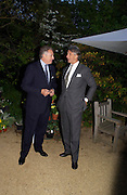 Count<br />Edmondo di RobilaT AND Arnaud Bamberger. Cartier dinner after thecharity preview of the Chelsea Flower show. Chelsea Physic Garden. 23 May 2005. ONE TIME USE ONLY - DO NOT ARCHIVE  © Copyright Photograph by Dafydd Jones 66 Stockwell Park Rd. London SW9 0DA Tel 020 7733 0108 www.dafjones.com