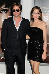 "File Photo: 19 July 2010 - Hollywood, California - Brad Pitt and Angelina Jolie. ""Salt"" Los Angeles Premiere held at Grauman's Chinese Theatre. Photo Credit: Byron Purvis/AdMedia"