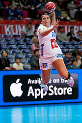 08-12-2019 JAP: Angola - France, Kumamoto<br /> First round President's Cup match Angola - France (17-28) at 24th IHF Women's Handball World Championship. / Laura Flippes #20 of France