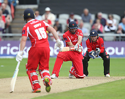 Ryan McLaren of Lancashire Lighting (C) in action - Mandatory by-line: Jack Phillips/JMP - 23/07/2017 - CRICKET - Emirates Old Trafford - Manchester, United Kingdom - Lancashire Lightning v Durham Jets - Natwest T20 Blast