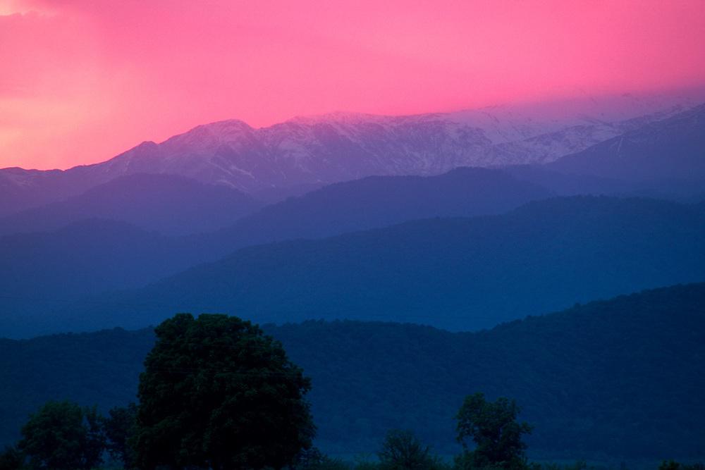Evening light, Caucasus Mountains, Lagodekhi National Park, The Country of Georgia