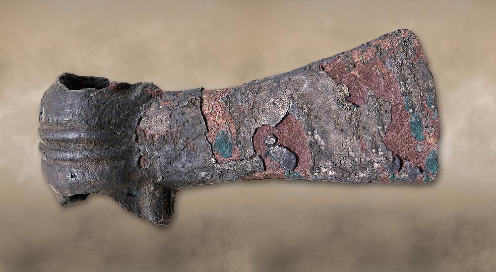 Hittite shaft hole axe from the Hittite capital Hattusa, Hittite New Kingdom 1450-1200 BC, Bogazkale archaeological Museum, Turkey.