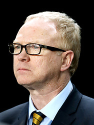 Scotland Manager Alex Mcleish during the international friendly match at the Groupama Arena, Budapest.