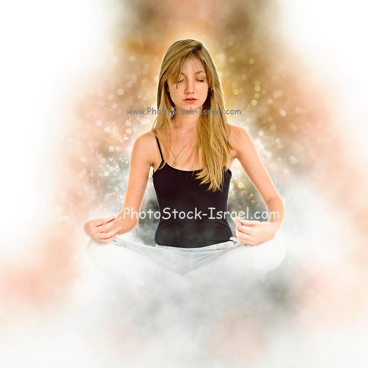 Yoga On white Background