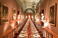 Corporate dinner setting at the National Portrait Gallery, London, UK