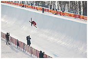 Team GB's Murray Buchan during the men's skiing halfpipe Qualification at the Pyeongchang 2018 Winter Olympics. Phoenix Snow Park in Pyeongchang, South Korea.