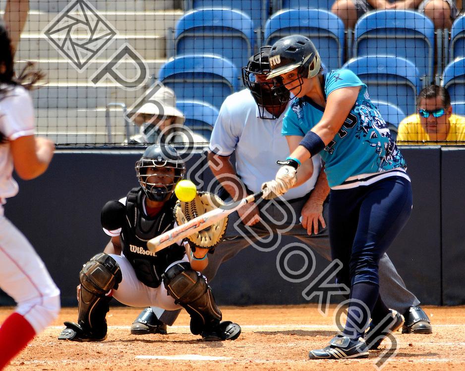 2011 April 4 - FIU Jenny Welch (10) at bat. Florida International University defeated Western Kentucky, 13-2, in six innings at the FIU Softball Complex, Miami, Florida. (Photo by: www.photobokeh.com / Alex J. Hernandez)