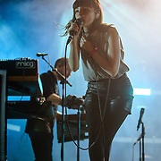 WASHINGTON, DC - September 26th, 2015 - CVRCHES performs at the 2015 Landmark Festival in Washington, D.C.  (Photo by Kyle Gustafson / For The Washington Post)