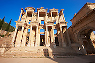 Picture of The library of Celsus. Images of the Roman ruins of Ephasus, Turkey. Stock Picture & Photo art prints 6 .<br /> <br /> If you prefer to buy from our ALAMY PHOTO LIBRARY  Collection visit : https://www.alamy.com/portfolio/paul-williams-funkystock/ephesus-celsus-library-turkey.html<br /> <br /> Visit our TURKEY PHOTO COLLECTIONS for more photos to download or buy as wall art prints https://funkystock.photoshelter.com/gallery-collection/3f-Pictures-of-Turkey-Turkey-Photos-Images-Fotos/C0000U.hJWkZxAbg