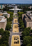 """The words """"Black Lives Matter"""" on Saturday, June 6, 2020, are visible on Capitol Mall in downtown Sacramento."""