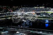 January 30-31, 2021. IMSA Weathertech Series. Rolex Daytona 24h:  Daytona atmosphere aerial, fireworks
