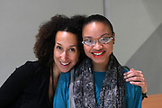 January 18, 2013- Paris, France- (L-R) Author Cheryl Finely and Curator Kalia Brooks attends the Black Portraiture(s): The Black Body in the West Conference Day 2 held at University Paris Diderot-Paris 7 on January 18, 2013 in Paris, France. The Black Body in the West, the fifth in a series of conferences organized by Harvard University and NYU since 2004 explores ideas of the production of self-representation, desire and the exchange gaze from the 19th century to the present day in fashion, film, art and the archives. (Terrence Jennings)