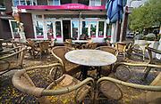 Nederland, Nijmegen, 2019 Serie van lege terrassen voor het blad Hollandse Beelden .Foto: Flip Franssen