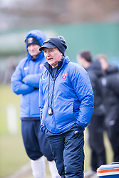 Whitehill Welfare manager, Mickey Lawson. Whitehill Welfare 2 v 1 Edusport Academy, South Challenge Cup Quarter Final played 7/3/2015 at Ferguson Park, Carnethie Street, Rosewell.
