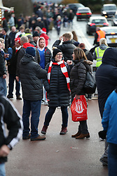 Fans outside the Bet365 Stadium ahead of the Sky Bet Championship match between Stoke City' and Ipswich Town