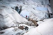 """Glacier du Rhone reportage Keystone et """"Le Temps"""" 2013"""